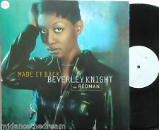 "BEVERLEY KNIGHT feat REDMAN ~ Made It Back ~ 12"" Single PS"