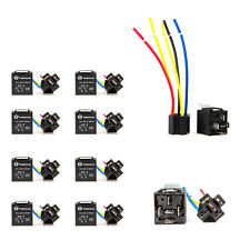 10pcs 12V 30/40 Amp SPDT Relay + Wire Harness Socket For Car Alarm Truck Release