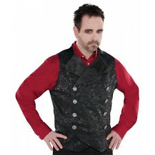 Graver Vest Adult Vampire Costume Cosplay Gothic Clothing Halloween Fancy Dress