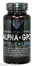 300mg Alpha GPC 60 Capsules Nootropic Brain Memory Focus Pills Absonutrix