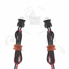 2x White LED w/ Shroud Inline Resistor 12v Motorcycle Glow Accent Bike Diode