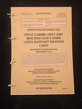 SA80 L85 OPERATING INSTRUCTIONS USER HANDBOOK PAMPHLET MANUAL