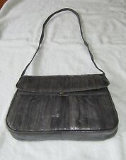 Eel Skin Purse Shoulder Bag Handbag Compartments Pocket Long Strap