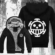 Anime One Piece Trafalgar Law Clothing Thicken Jacket Cosplay Sweater Hoodie