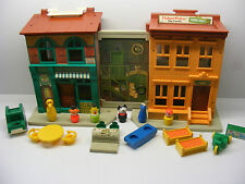 vintage Fisher Price big bird bert house little people SESAME STREET  set 938