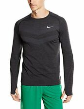 Nike Men's Size Medium Black/Dark Grey Dri-Fit Long Sleeve Shirt NEW $90