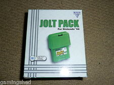 NINTENDO 64 N64 RUMBLE JOLT PACK BRAND NEW! BOXED Green Controller Vibration Pak