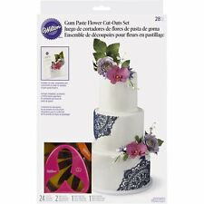 Wilton 28 Piece Gumpaste Flower Cutter Set Cake Decorating Fondant Flowers