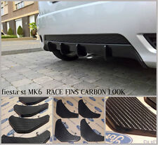 ford fiesta mk6 st/mk6 zetec s /mk6 fiesta 1.4/ diffuser fins/ bumper fins