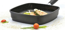 "Eurocast Professional Cookware 11"" Jumbo Grill Pan/Removable Handle"