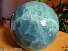 80mm new Glow In The Dark Stone crystal Fluorite sphere ball AAA+++6gv