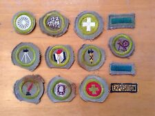 1940's Era Group of 10 Different Boy Scout Merit Badges