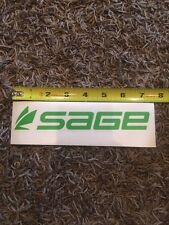 """Sage Fly Fishing Decal Sticker Green Approx 7.5"""""""