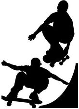 LARGE vinyl graphic skateboard skater boys ramp jump bedroom wall art silhouette