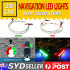 12V Bow LED Red Green NAVIGATION Strips LIGHT KIT - Boat/Marine/Starboard/Port