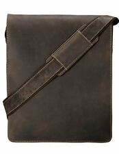 Visconti 18410 Large Brown Leather Messenger Bag Shoulder Bag Organizer Handbag