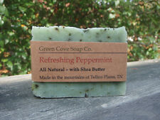 Refreshing Peppermint all Natural Vegan Lye Soap - Green Cove Soap Company