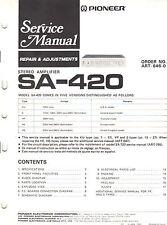 Pioneer service manual sa 420 Original Printed Factory Repair Book Not a Copy