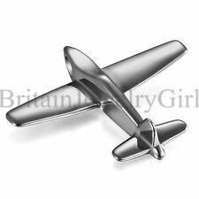Polished Airplane Charm Air Line Vacation Pendant Stainless Steel Chain Necklace