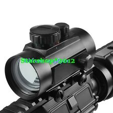 1X40 Rifle Scope Fit 20mm Picatinny/Weaver Mount Sporting Red Green Dot Sight