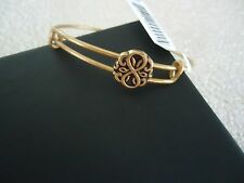 Alex and Ani  PATH OF LIFE  Russian Gold Slider Bangle New W/ Tag Card & Box