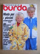 BURDA Speciale n°30 1986 M 2018 C con Cartamodelli  [G582]