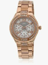 GUESS VIVA W0111L3, Full Rose Gold Studded Chronograph Watch for Women