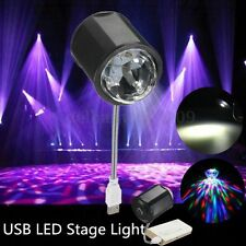 4W USB RGB LED Stage Light DJ Disco KTV Party Crystal Ball Effect Lamp + Light
