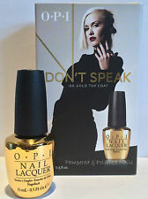 OPI~DON'T SPEAK 18K GOLD TOP COAT~GWEN STEFANI COLLECTION~BNIB~SAME DAY POST