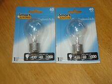 Smart Living 40-Watt Clear Fan / Appliance Bulb Lot of 2 New