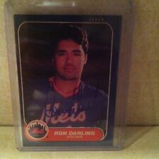 1986 Fleer Ron Darling Auto Signed Card 1986 Mets....