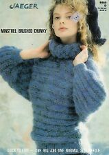 ~ Jaeger Knitting Pattern For Lady's Dolman Sleeve Sweater ~