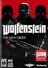 Wolfenstein: The New Order (PC, 2014) Used 4 CDs