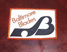 Baltimore Blades Team patch logo   WHA from the Woody Ryan Collection