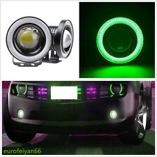 2 Pcs 6000K Green LED COB Xenon Angle Eyes Halo Rings Car Fog DRL Light For Fiat