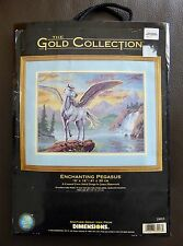 Dimensions The Gold Collection Cross Stitch Kit ~Enchanting Pegasus ~35023~RARE