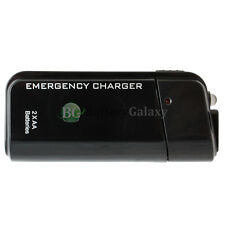 USB Emergency Portable 2 AA Battery Power Charger for LG Phoenix K3 K4 K7 K8 K10