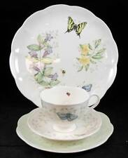 Lenox BUTTERFLY MEADOW CLOUD Cup & Saucer, Dinner Plate, Pie Plate LIGHT USE