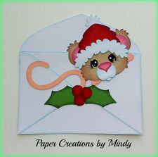 Craftecafe Mindy Christmas Mouse  Premade Paper Piecing for scrapbook page