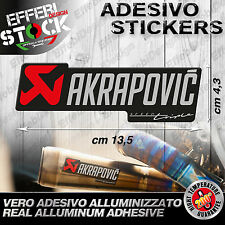 Adesivo / Sticker AKRAPOVIC TRIUMPH SPPED STREET TRIPLE  ALTE TEMP 200°gradi