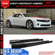 10-15 Chevy Chevrolet Camaro ZL1 Style Side Skirt Rocker Panels Body Kit