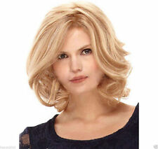 Sexy ladies Short Blonde Mixed Wavy Curly Natural Hair Full wigs + wig gift