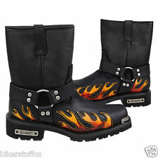 Harness Flame Motorcycle Boot  SIZE: 12