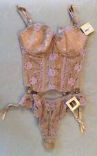 Change Exclusive Lingerie Corset Bra And Knickers Set In Sand Colour
