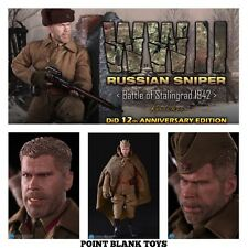 DID BOX FIGURE WWII RUSSIAN SNIPER BATTLE OF STALINGRAD 1942 KOULIKOV 1/6TH TOYS
