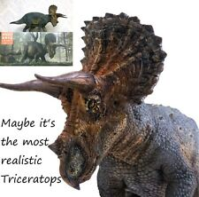 PNSO Rare Triceratops Dinosaurs Model scientific precise realistic art Figure