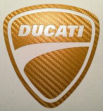 Motorsport  Aufkleber Ducati Carbon-Gold  für Motorrad oder Auto