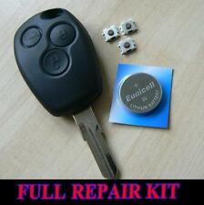 RENAULT 3 BUTTON  KANGOO CLIO LAGUNA KEY REMOTE FOB CASE FULL REPAIR KIT