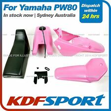 KDF FOR YAMAHAX PW80 PY80 PLASTIC FENDER COVER + TANK  (PINK) + SEAT (BLACK)