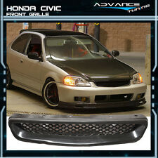 Fit For JDM 99-00 Honda Civic T-R ABS Front Hood Grill Grille @@ 1999 2000